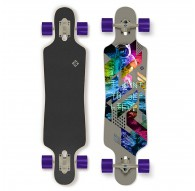 """Longboard Street Surfing Drop Through Freeride  39"""" Curve I Want To Belive"""