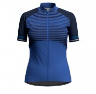 Koszulka tech. damska Odlo Stand-up collar s/s full zip ZEROWEIGHT